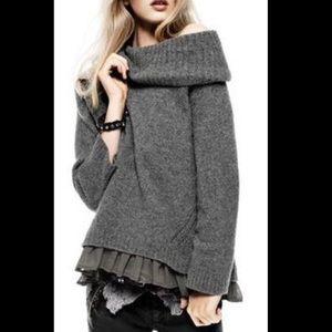 Twin Set Simona Barbieri Cowl Neck Knit Sweater